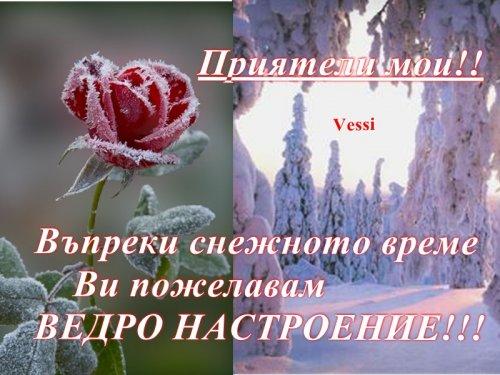 Пожелания за Приятен  снежен ден!