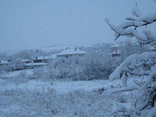сняг на коледа в с Сърнево